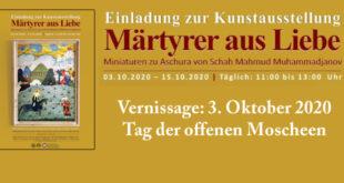 Kunstausstellung «Märtyrer aus Liebe» in Hamburg | 03.10.2020 – 15.10.2020