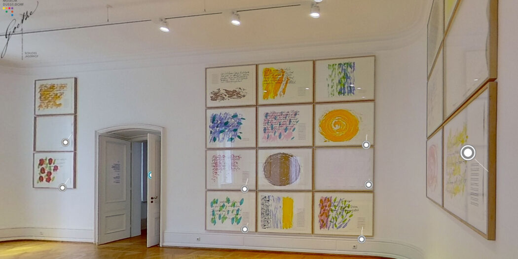 "360°-Tour: Ausstellung ""Uecker – Hafis – Goethe"""