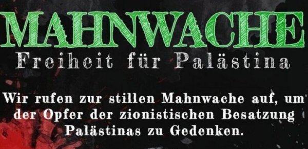 Mahnwache zum internationalen Qudstag in Hannover
