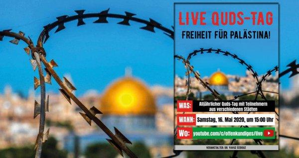 Live Quds-Tag Freiheit für Palästina | Samstag, 16. Mai